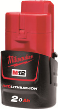 Milwaukee M12B2 12V Li-Ion 2.0Ah RED LITHIUM Battery