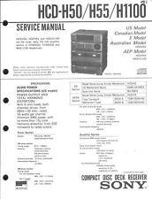 Sony Original Service Manual für HCD-H 50/H 55/H 1100
