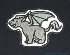 Embroidered Baby Gargoyle Winged Statue Kid Monster Horror Patch Iron On Sew USA