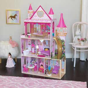 Kidkraft Rose Garden Castle Dollhouse with EZ Kraft Assembly