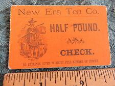 Rare 1870s New Era Tea Company Coupon Check Premium Gerould Bissel