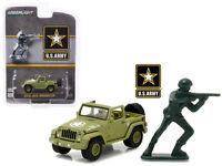 2016 Jeep Wrangler U.S. Army w/ Soldier Diecast Model - 1:64 Greenlight 29884*