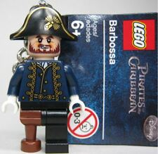 LEGO Pirates of the Caribbean Minifigure Captain Hector Barbossa Key Chain NEW