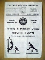 Isthmian League 1966/67- TOOTING & MITCHAM v HITCHIN TOWN,Senior Section, 5 Nov