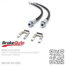 BRAKEQUIP DISC BRAKE FRONT HOSE KIT [1965-69 HOLDEN HD-HR X2 HK-HT-HG MONARO]