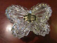 ZAJECAR PRETTY BUTTERFLY LEAD CRYSTAL GLASS  LIDDED TRINKET BOX