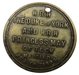 1893 The Duke Of York and H.R.H Princess May Of Teck Marriage Medal