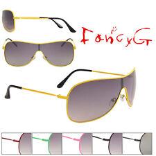 Fashion Sunglasses Unisex Classic Single Lens UV 400 Protection x 12 Assorted