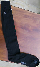 Hackett Mens Long Cotton Socks 1-Size Black 3/4H in Box Needle Out Rib HMU50157L