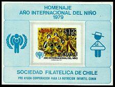 CHILE, INTERNATIONAL YEAR OF THE CHILD, SOUVENIR SHEET, UNPERF., (GAR145)