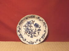 Vintage Maruta China Japan Blue Onion Design Gold Accent Soup Bowl