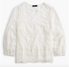 J CREW Mixed embroidery drapey top