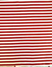 Riley Blake Red White Stripe Cotton Fabric Crafts, Apparel, Face Mask, 1 yard