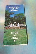 Rock of Ages '87 Forget Not All His Benefits Program Schedule Booklet