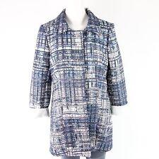 DIXIE giacca cappotto tg. M 38 motivo BLU LILLA kaajada NP 200 NUOVO