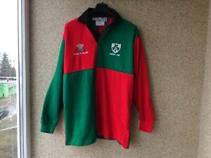 Wales v Ireland Cardif 2001 Jersey Rugby Shirt M OLD Vintage Camiseta