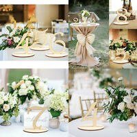 Table Decorations For Wedding Reception Table Number 1-10 Wooden With Base