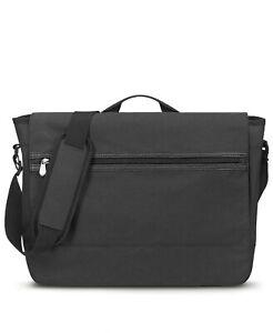 Blankslate by Solo Men's Bag Black Messenger Laptop Travel Flap $70 #459
