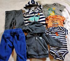 Infant Baby Boys Clothes Lot Onepiece Bodysuits, Pants, Hoodies Newborn NB