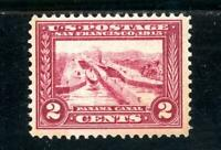 USAstamps Unused VF US Canal Rare Carmine Lake Shade Scott 398a MNG Cat $1500