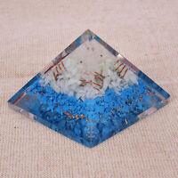 X-LG 70 MM Turquoise & Amazonite Orgone Orgonite Pyramid Emf Protection Gems