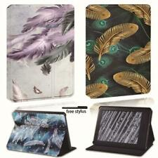 Feather Leather Stand Cover Case For Amazon Kindle 8th 10th Paperwhite 1/2/3/4