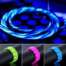 LED Leuchtendes Ladekabel Micro USB Typ-C Fließendes Kabel Für Android Mobile