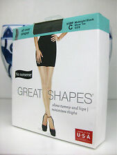No Nonsense PANTYHOSE Great Shapes All-Over Shaper Sheer Toe Midnight Black  C