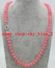 "Natural 5x8mm Pink Rhodochrosite Rondelle Gemstone Beads Necklace 18""AAA"