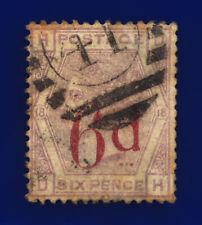1883 SG162 6d on 6d Lilac Plate 18 K8B DH London Fair Used Cat £150 cjue