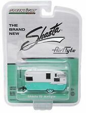 1:64 Greenlight *HOBBY EXCLUSIVE* Seafoam Green SHASTA Airflyte Camper HITCH TOW