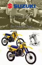 Vintage Motocross Suzuki EVO poster