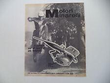 advertising Pubblicità 1970 MOTORE MINARELLI 50 REGOLARITA' CROSS 4 MARCE