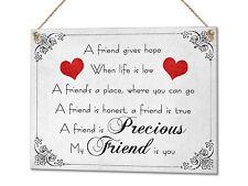 Precious Friend Friend's Quote Present Birthday Metal Plaque Sign Wall Art