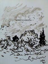 HAMBOURG André : Provence - LIVRE + Dessin original avec dédicace #1992