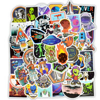 50Pc Space Alien UFO Astronaut Planet Stickers Skateboard Laptop Luggage Decals!