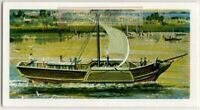 """1812 Paddle Steamer """"Comet"""" Commercial Steamboat Ship Vintage Trade Ad Card"""