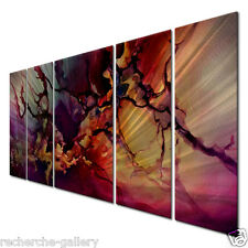 Metal Wall Art Painting Abstract Modern Wall Sculpture Moody by Michael Lang
