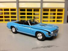 1/64 1969 Chevy Camaro SS396 Auto in Blue/Blk Int Riding on Rally Wheels