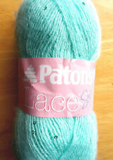 Patons Lace Sequin Yarn  Mohair Blend  Turquoise  Weight #2