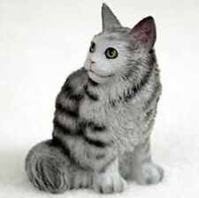 Maine Coon Silver Cat Tiny Ones Figurine Statue Pet Resin