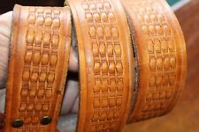 WIDE TOOLED LEATHER WESTERN STYLE BELT SIZE 38-40