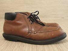 Vintage Red Wing Brown Leather Work Boots Men's US 10 B Lace Up Oil Resistant