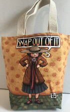 Mary Engelbreit Snap Out Of It Canvas Tote Bag Book Bag Fiddler's Elbow Usa Made