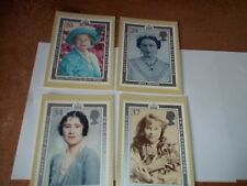HM Queen Mother 90th Birthday PHQ 128 set Royal Mail Stamp Card Series FREE POST