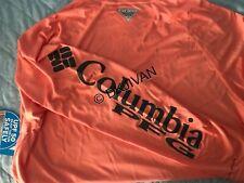 Columbia Pfg Terminal Tackle Longsleeve Peach Swimming Fishing Shirt L Men