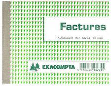 Mini Cahier Autocopiant Manifold EXACOMPTA FACTURES 105x135mm 13274E 50x Dupli