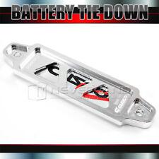 14cm Car Auto Billet Aluminum Light Weight Battery Tie Down Bar Bracket Silver
