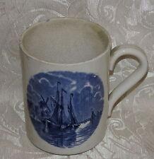 """Antico grande boccale ceramica di Goteborg """"Delft"""" Pattern Antique Tankard c1850"""