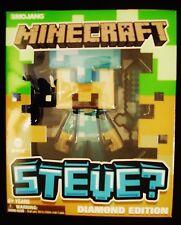 "mojang minecraft steve? diamond edition 1:16 scale (6"") action figure"
